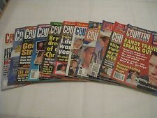COUNTRY WEEKLY MAGAZINES FROM 1996 THROUGH 2000, 11 ISSUES TO CHOOSE FROM,