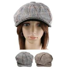 Mens Ladies Tweed Gatsby Cap Hat Flat 8 Panel Baker Boy Newsboy Beret Cap Sunhat