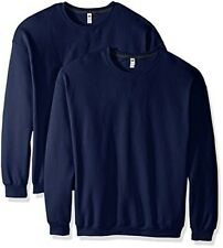 Fruit of the Loom Men's Crew Sweatshirt (2 Pack), Admiral Blue, Small