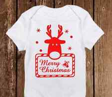 Rudolph Reindeer Red Nose - Baby First Christmas Outfit - Holiday Gifts