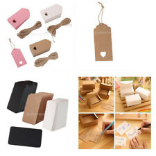 100PCS DIY Paper Tags Wedding Bonbonniere Gift Party Kraft Paper Label Hang Tags