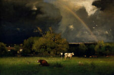 Canvas Wall art Classical Oil Painting repro Handmade landscape George Inness 65
