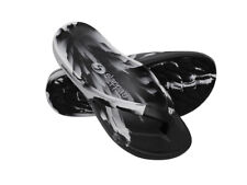 Black & White Slappa's Arch Support Thongs/Orthotic Sandals