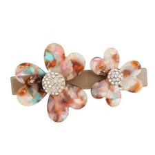 Acrylic Hairclip Barrette Rhinestone Twin Flower Clip Accessories Jewelry