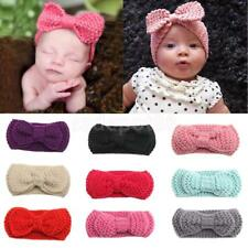 Baby Girls Newborn Crochet Hair Bow Headband Photo Props Hair Band Accessories