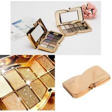10 Color Diamond Shimmer Eyeshadow Palette & Cosmetic Brush Makeup Set - 6 Shade