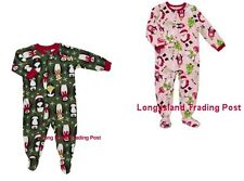 Carters Baby Holiday Footed Microfleece Pajamas Sleeper Warm Cuddly 12M