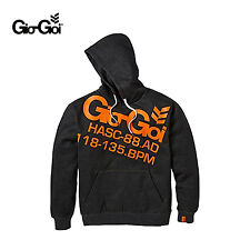 GIO GOI MENS HEATHER CHARCOAL IGNITION HOODED HOODIE  HOODY RRP £29.99 SAVE 60%