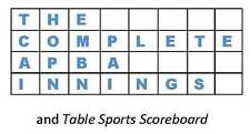 The Complete APBA Innings/Table Sports Scoreboard on CD