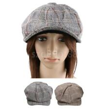 Men's Retro Baker Boy Hat Newsboy Gatsby Tweed Country Golf Sun Flat Beret Cap