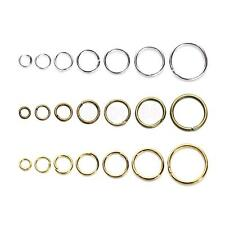 Mixed Size Iron Plated Jump Rings Unsoldered Open Rings for Jewelry Making