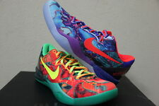 Nike ZOOM KOBE 8 SYSTEM PREMIUM WHAT THE ORANGE BLUE GREEN DS 10.5 [635438-800]