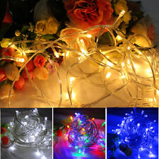 50/100/200/300/400/500 LED Battery Operated String Fairy Lights Xmas Christmas