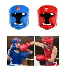 Closed Type Boxing Helmet Fighting Sparring MMA Muay Thai Kick Head Face Guard