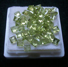 4mm - 8mm Natural Peridot Faceted Cut Square Top Quality Green Color Gemstone