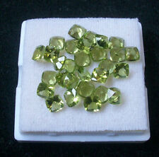 4mm - 8mm Natural Peridot Faceted Cut Cushion Top Quality Green Color Gemstone