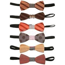 Wood Grain Pre Tied Mens Bow Tie Bowtie Adjustable Necktie Wedding Prom