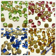 SS6 (1.9mm) Point back Rhinestones Crystal Glass Strass Chaton Nail Art 2880ps