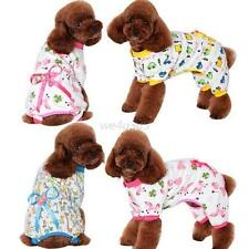 Small Pet Dogs Cartoon Bowknot Pajamas Coat Cat Puppy Clothing Jumpsuits Clothes