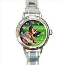 German Shepard Kitten Dog Italian Charm Watch (Battery Included)