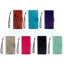 Small Butterfly TPU Leather Wallet Phone Case Cover For Various Mobile Phone
