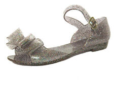 Girls Pink Glitter Summer Jelly Sandals UK Kids Shoes size 12 13 1 2 3 4