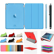 Smart Magnetic Cover Skin Hard PU Leather Back Case Stand for Apple iPad 2 3 & 4