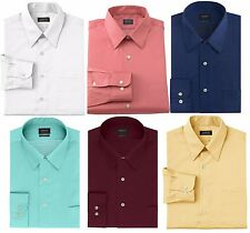 New Arrow Men's Classic-Fit Point-Collar Sateen Dress Shirt Many Colors MSRP $45