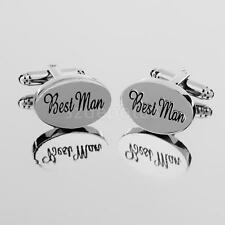 Fashion Mens Shirt Cufflinks Oval Silver Cuff Links Accessories