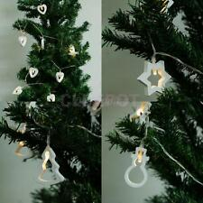 10pcs LED Wood Christmas Tree Snowman Love Fairy String Lights Party Decoration