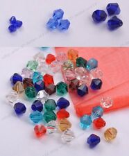 Wholesale Bicone Faceted Rondelle Glass Crystal Charms Loose Spacer Jewelry Bead