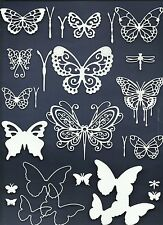 LOTS 3-30 PCS. SUB-SETS BUTTERFLY DIE CUTS* PUNCHIES SPRING GARDEN WINGS *READ!