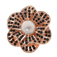 Gold Plated Alloy Brooch Jewelry Rhinestone Pearl Flower Scarf Clip Brooches Pin