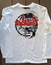 NWT Youth Marvel Comics Spiderman White Long Sleeve Shirt Size 12