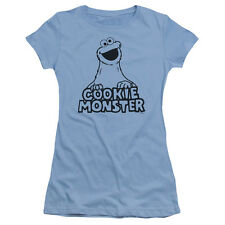 "Sesame Street ""Vintage Cookie Monster"" Girl's Junior Cap Sleeve Tee"