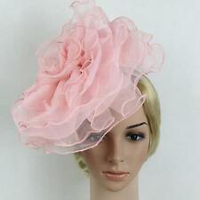 Women Lady Fascinator Headband Large Netting Flower Kentucky Derby Hat Handmade