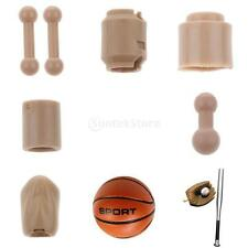 1/6 Scale Mini Action Figures Neck Feet Model for 12'' Hot Toys TTL Figures Body