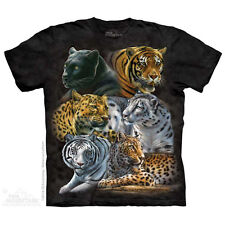 Big Cats T-Shirt by The Mountain.  Wild Big Cats Tiger Lion Leopard Zoo Animals