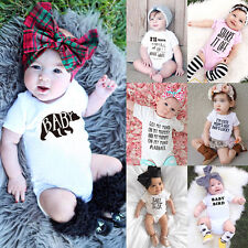 Cute Infant Baby Boys Girls One-piece Summer Short Sleeve Romper Jumpsuit Outfit