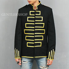 Men's Fashion Square Striking Stitching Snap Button Wool Jacket, GENTLERSHOP