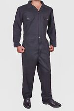 NEW MENS BLACK BOILER SUIT OVERALL COVERALL MECHANIC COLLEGE WORK SMALL- 3XL