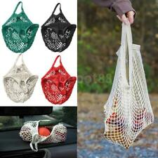 Mesh Bags ORGANIC COTTON STRING ECO SHOPPING Tote Short Handle Reusable Handbag