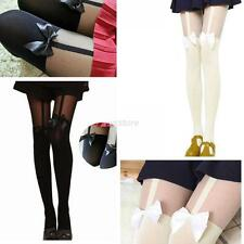 Women's  Elastic Bow Bowknot Over Knees Suspender Stockings Tights Pantyhose