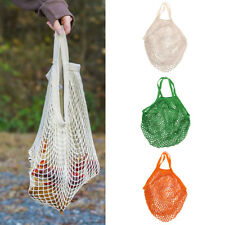 Reusable String Shopping Grocery Bag Tote Mesh Net Woven Cotton Bag Large