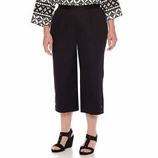 Alfred Dunner Sao Paolo Pull-On Capris Plus Size 16W Msrp $52.00 Black