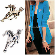 Silver Gold Tone Horse Shape Brooch Pin Suit Business Wedding Bridal Jewelry