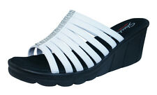Skechers Promenade Bewitched Womens Sandals Memory Foam - White