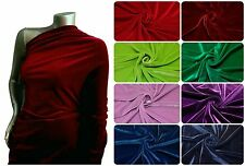 Velvet Solid Color Stretch Polyester Spandex Fabric