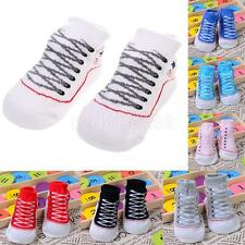 Newborn Baby Boy Girl Anti Slip Sneaker Socks Indoor Walking Socks 0-12 Months