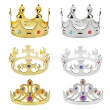 Plastic King Queen Nativity MAJESTIC CROWN Fancy Dress Hat Costume Silver/Gold